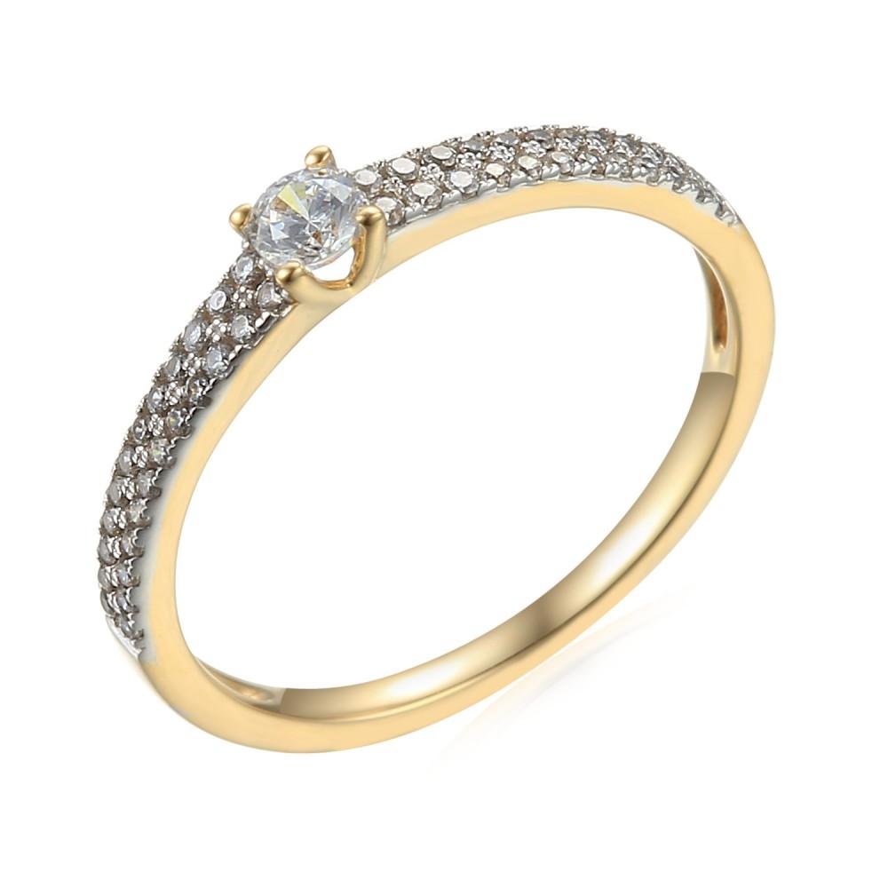 Zlatý prsten se syntetickým zirkonem 585/1000,  2.10g - 44402R018