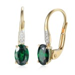 585/1000 Gold earring with  synthetic emerald, 1.50 g - 54611E007
