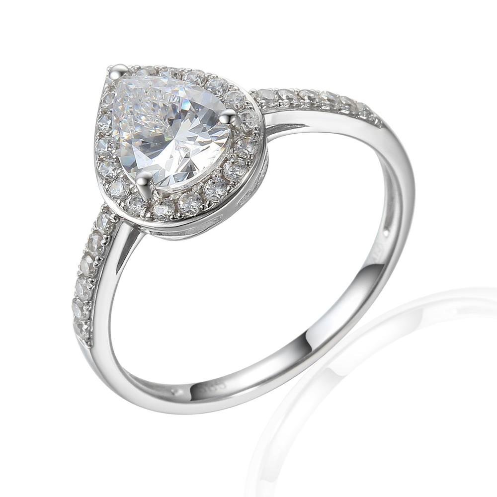 Zlatý prsten se syntetickým zirkonem 585/1000,  2,53 gr - 69564R014