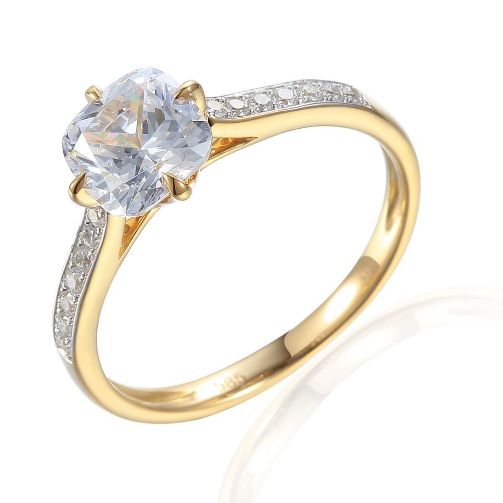 Zlatý prsten se syntetickým zirkonem 585/1000,  2,62 gr - 69583R013