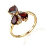 Zlatý prsten s granátem 585/1000,  3,60 gr - 73807R002