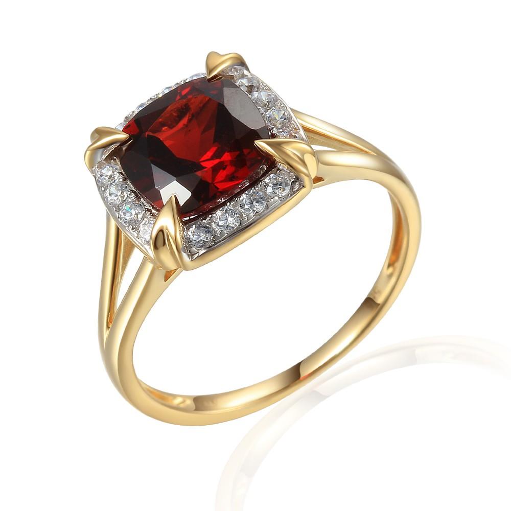 Zlatý prsten s granátem 585/1000,  3,88 gr - 73816R001