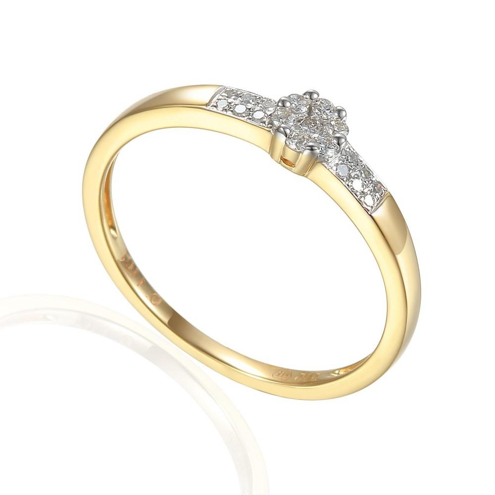 Zlatý prsten s diamantem 585/1000, 0,12 ct - 30561R010