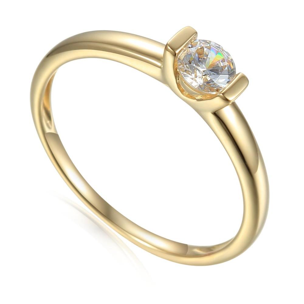 Zlatý prsten se syntetickým zirkonie 585/1000,  1,99 gr - 41709R004