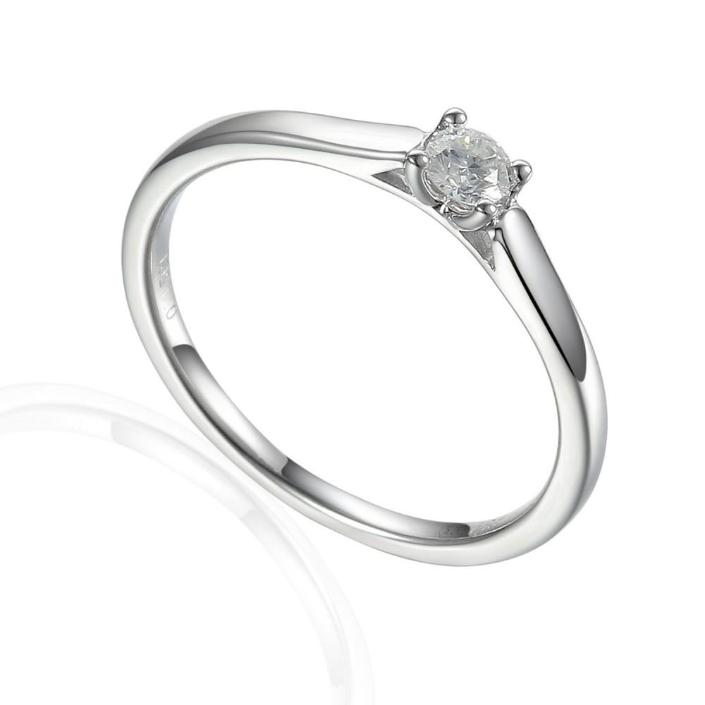 Zlatý prsten s diamantem 585/1000, 0,118 ct - 42332R014