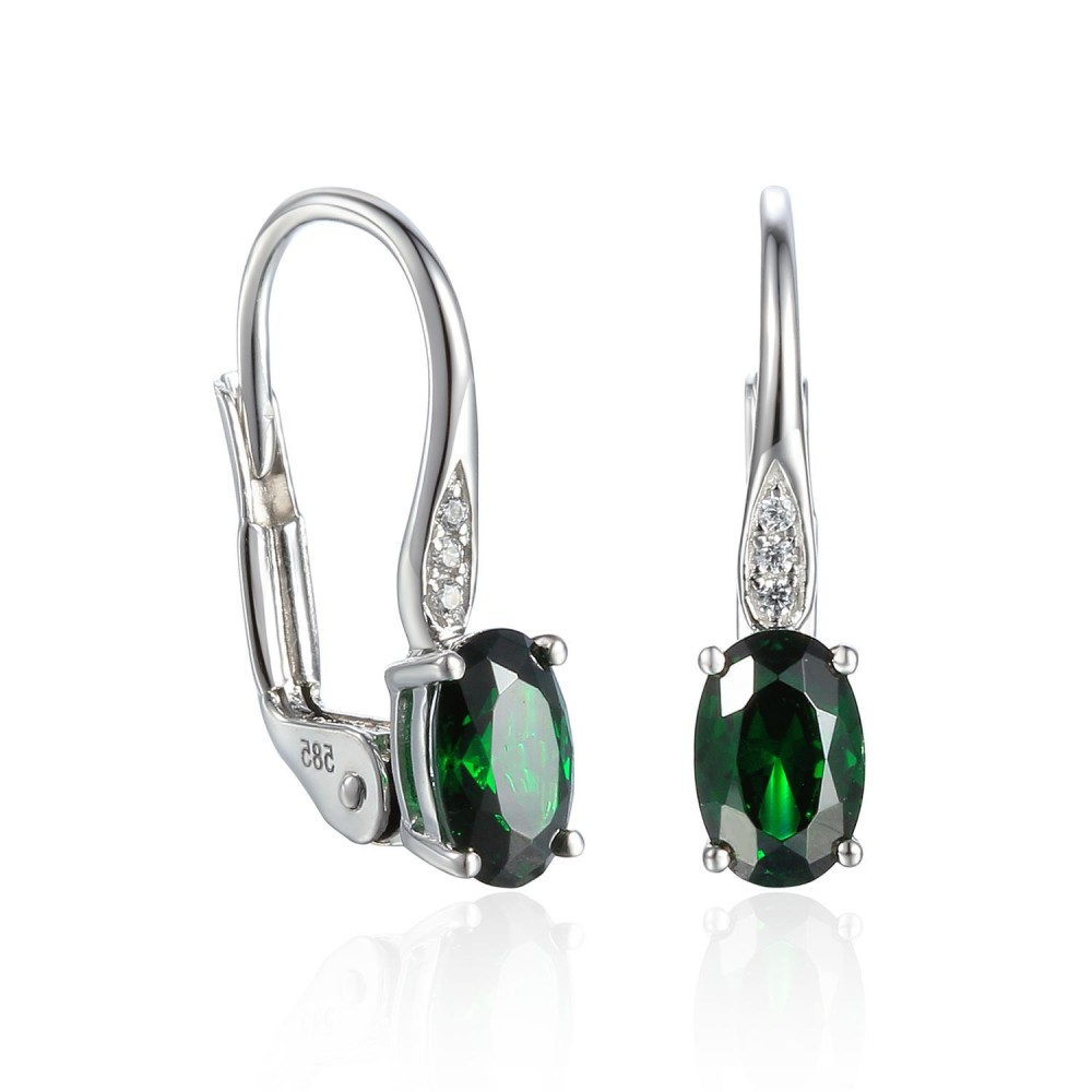 585/1000 Gold earring with  synthetic emerald, 1.58 g - 54611E004