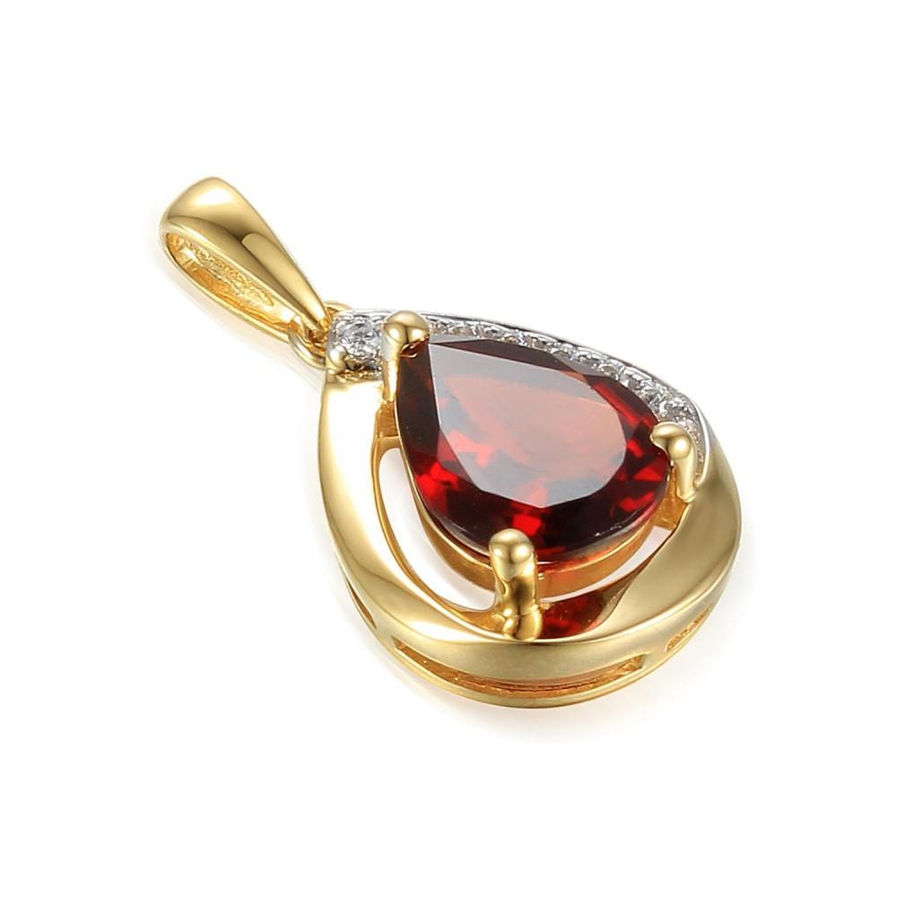Zlatý přívěsek s granátem 585/1000,  2,01 gr - 69218P002