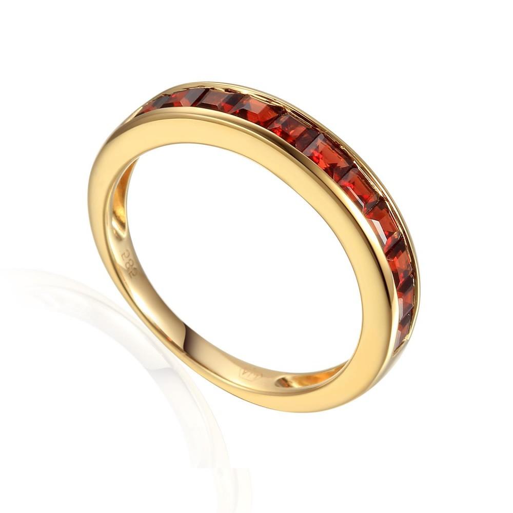 Zlatý prsten s granátem 585/1000,  3,30 gr - 69608R001