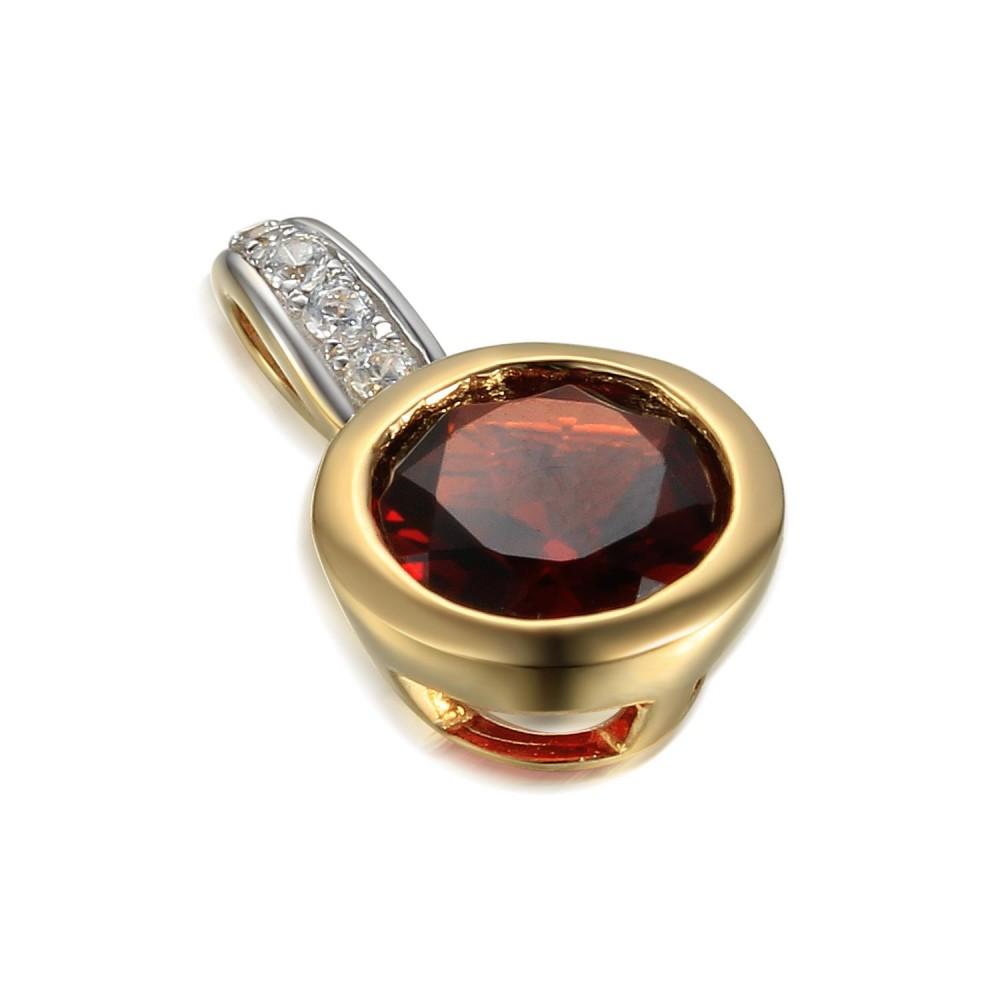 Zlatý přívěsek s granátem 585/1000,  1,31 gr - 73805P001